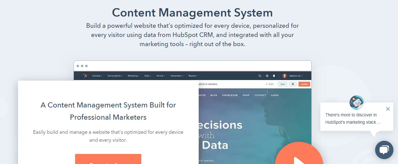Hubspot Content Management System_Hubspot CMS
