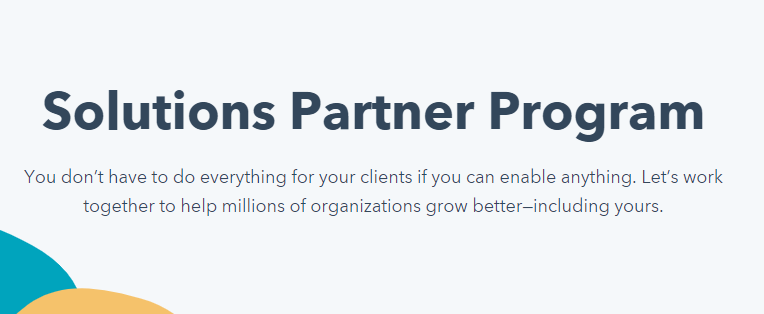 Solutions Partner Program_HubSpot Agency Partner Program