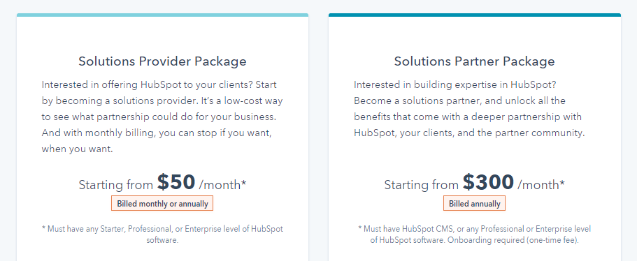 pricing_hubspot agency partner program