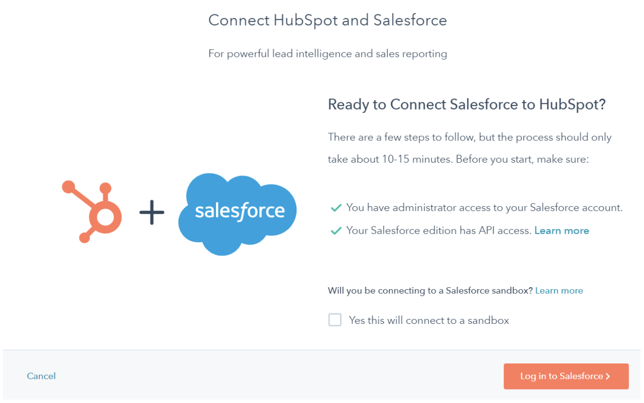 connect hubspot and salesforce